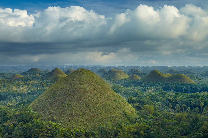 Chocolate Hills, Bohol, The Visayas, Philippines. February 2011.