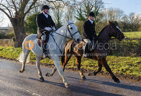 The mounted field leaving the meet