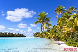 Iconic beach on One Foot Island, Aitutaki, Cook Islands