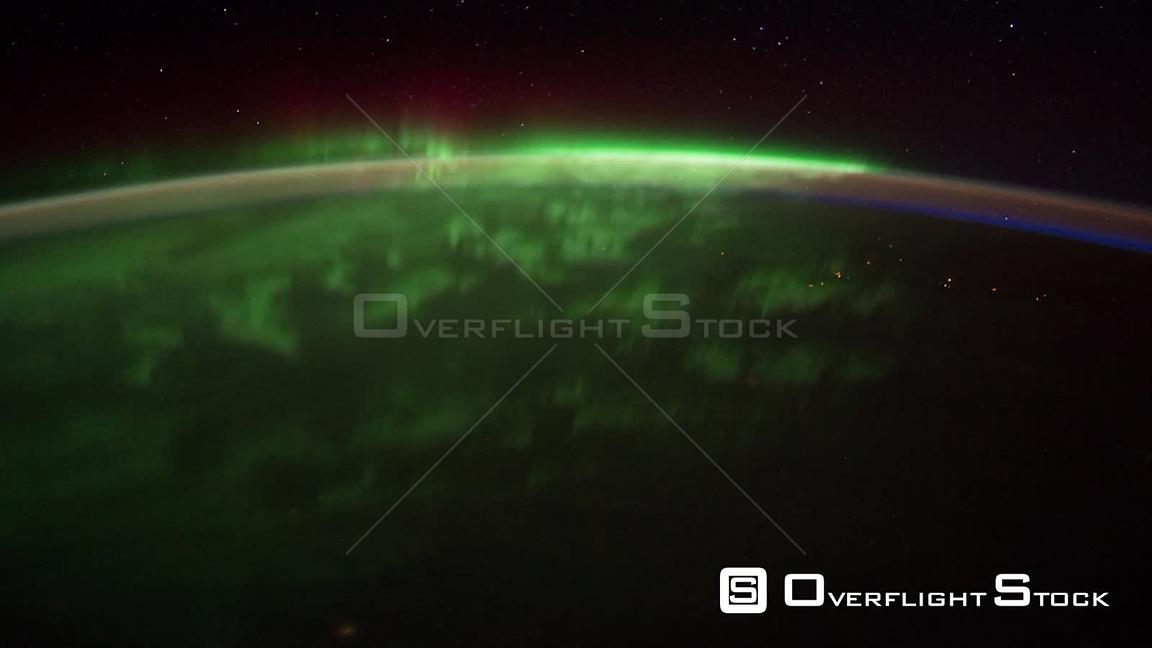 Time-Lapse from ISS over  USA Canada Exp30 Aurora Borealis 26 Jan 2012