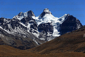 Glacial U shaped valley and Mt Condoriri, Cordillera Real, Bolivia