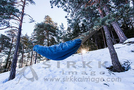 Winter hammocking