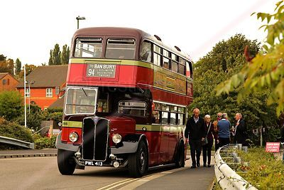 Red Double Decker Bus at the Banbury Canal Day