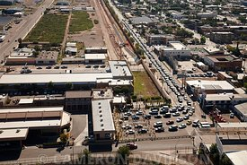 Aerial Photograph of US Customs and Immigration, Douglas, Arizona.
