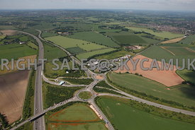 Wall Island major road network interchange and the Shenstone toll booth on the M6 motorway and the A5 Bypass Staffordshire