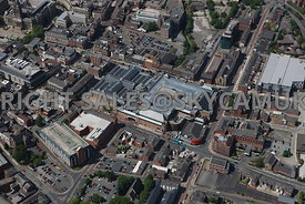 Bolton aerial photograph of the area surrounding the Market Place shopping centre Bridge Street