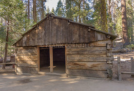 Historic Gamlin Cabin in Sequoia National Park.