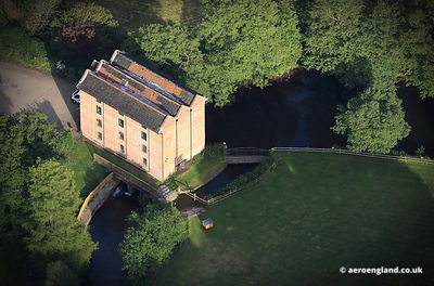 aerial photograph of Letheringsett Water Mill Norfolk UK