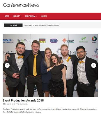 Conference News website gallery - Exhibition News Awards - March 2018