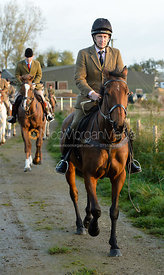 Russell Nearn leaving the meet - The Cottesmore Hunt at the kennels 21/10