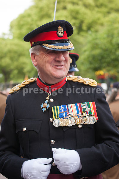 Brigadier Maurice Sheen CBE QVRM TD, Colonel Commandant The Royal Logistic Corps