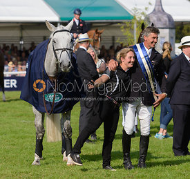 Andrew Nicholson, Annabelle Gentili and AVEBURY - The Prize Giving, Burghley Horse Trials 2014.