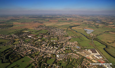 aerial photograph of Oundle Northamptonshire England UK