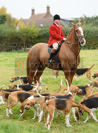 John Holliday at the meet - Belvoir Hunt Opening Meet 2016.