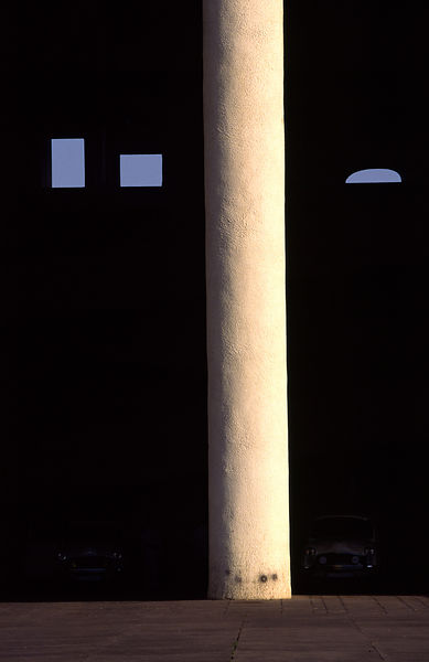 India - Chandigarh - A column and window of the Parliament Building