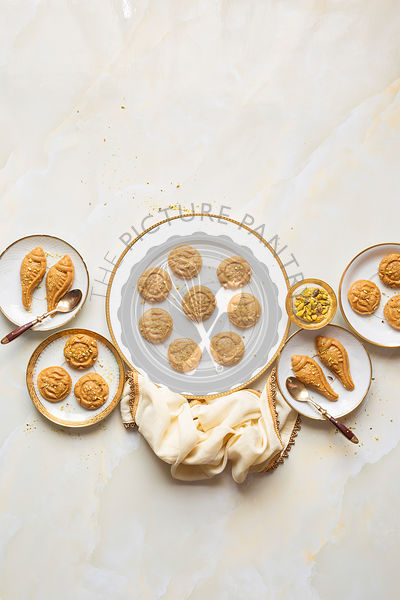 A plate of Indian desserts (sweets) - Gluten Free and Refined Sugar Free