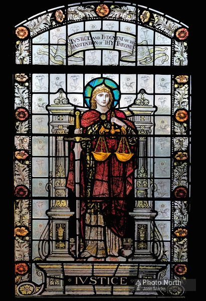 MARTHWAITE 11B - Justice by William Morris, St Gregory's Church