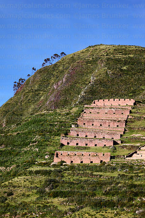 Inca ruins of Machuqolqa / Machucollpa near Chinchero, Cusco region, Peru
