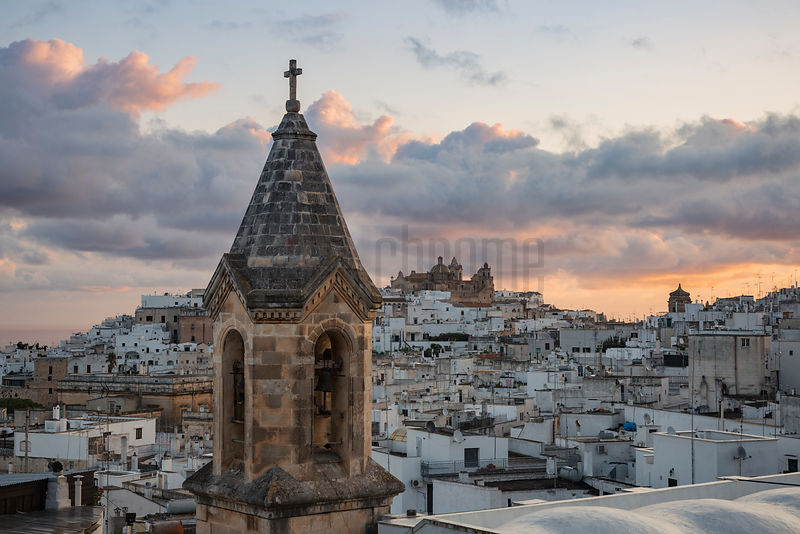 Elevated View of Ostuni at Dawn from the Via Panoramica