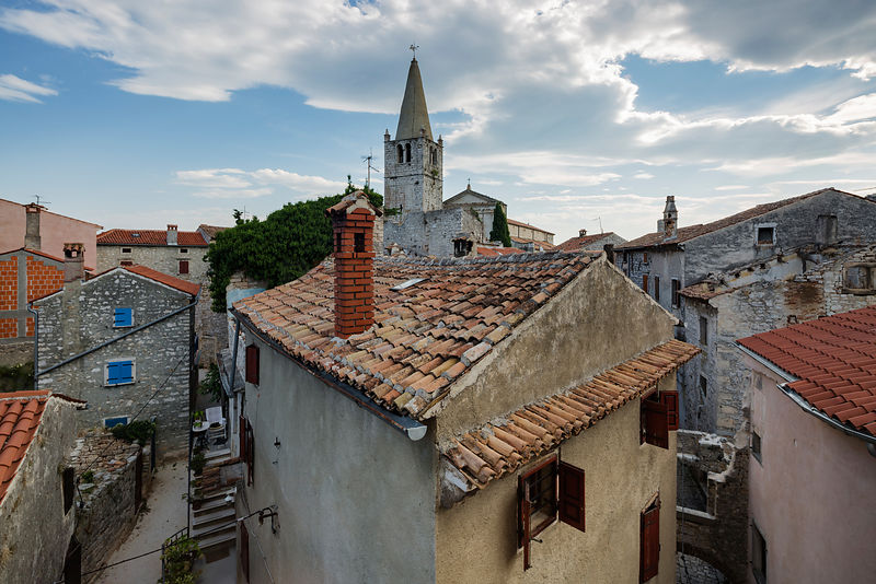 View Across the Rooftops to the Parish Church of the Visitation of the Blessed Virgin Mary to St Elizabeth