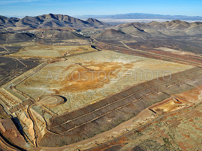 Abandoned tailings pond,  Bisbee, Cochise County, Arizona,  USA