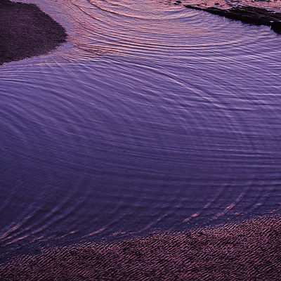 Refraction and interference patterns observed at sunset from the cliffs at Orcombe Point, Exmouth, Devon, UK