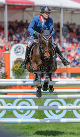 Denis Mesples and OREGON DE LA VIGNE - show jumping phase,  Mitsubishi Motors Badminton Horse Trials, 6th May 2013.
