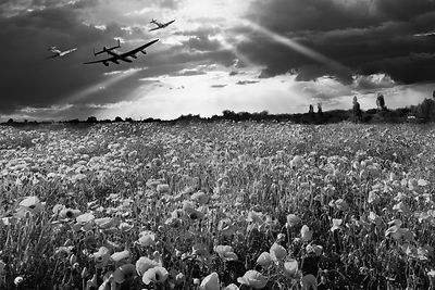 The final sortie WWII black and white version