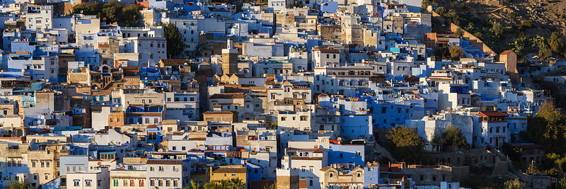 Elevated View of the White Town of Chefchaouen