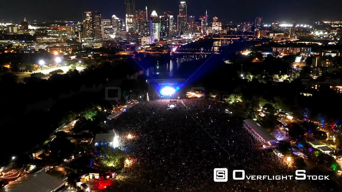 Aerial Drone Video 2018 Austin City Limits Music Festival Texas
