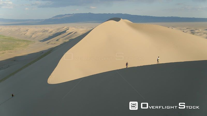 South Gobi, Gobi desert, Khongoryn Els dunes Drone Video Mongolia