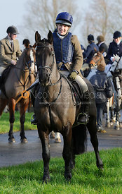 Pip Franks at the meet in Morborne, 23/1