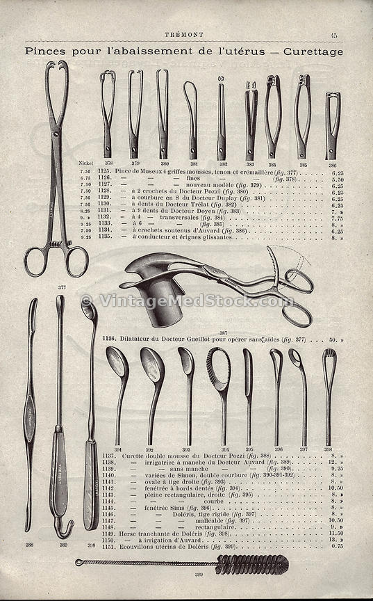 L' Arsenal de L' Art Medical Circa 1899