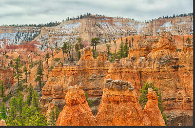 Layers Of Canyon Walls- Bryce Canyon, Utah