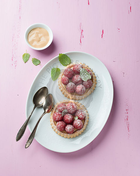 Tartlet with fresh raspberries
