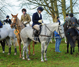Folowers at the meet - The Cottesmore Hunt at Pickwell 21/12
