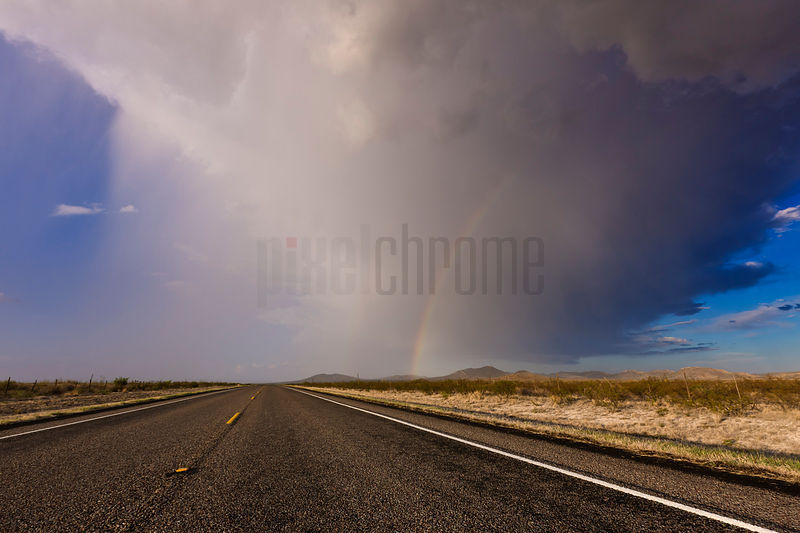 Storm and West Texas Highway
