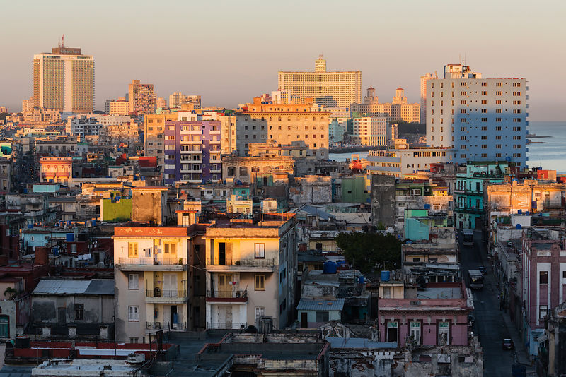 Elevated View of Central Havana Looking Towards Vedado