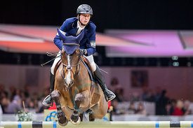 Zurich, Switzerland, 27.1.2018, Sport, Reitsport, Mercedes-Benz CSI Zurich - Art on Ice Championat. Bild zeigt Martin FUCHS (SUI) riding DUBAI DU BOIS PINCHET...27/01/18, Zurich, Switzerland, Sport, Equestrian sport Mercedes-Benz CSI Zurich - Art on Ice Championat. Image shows Martin FUCHS (SUI) riding DUBAI DU BOIS PINCHET.