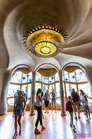 Room of the noble floor, Casa Batllo by Gaudi, Barcelona, Spain