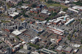 Preston aerial photograph of Walker Street and Crown Street and Moor Lane and the Greenbank Building Victoria Street