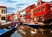 Colorful Burano Sicily Italy