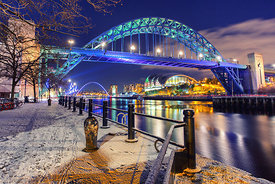 Snow on the Quayside