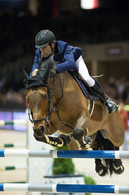 Bordeaux, France, 3.2.2018, Sport, Reitsport, Jumping International de Bordeaux - LONGINES FEI WORLD CUP™ JUMPING. Bild zeigt Manuel FERNANDEZ SARO (ESP) riding Cannavaro 9 (5*)...3/02/18, Bordeaux, France, Sport, Equestrian sport Jumping International de Bordeaux - LONGINES FEI WORLD CUP™ JUMPING. Image shows Manuel FERNANDEZ SARO (ESP) riding Cannavaro 9 (5*).