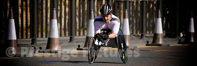 France's Jean Marc Ternullo Racing in The Men's Wheelchair Event at the 2014 London Marathon