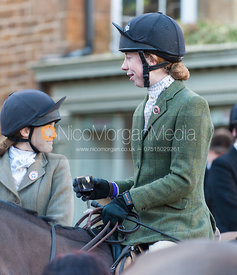 Followers at the meet in Uppingham - The Cottesmore Hunt in Uppingham on New Year's Day 2013