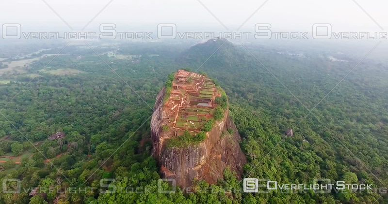 Unesco Lion Rock Fortress, City of Sigiriya, Sri Lanka , Filmed by Drone