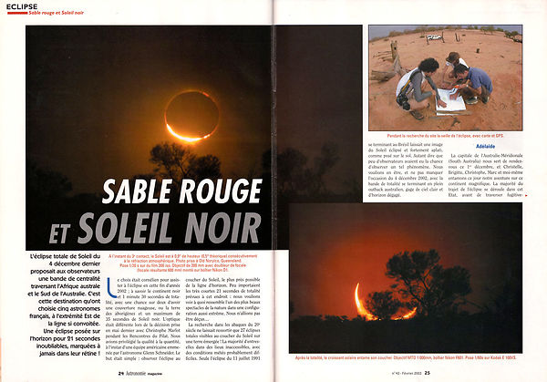 ASTRONOMIE MAGAZINE - Février 2003 photos