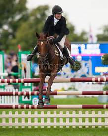 Rosie Thomas and Barry's Best - show jumping phase,  Land Rover Burghley Horse Trials, 2nd September 2012.
