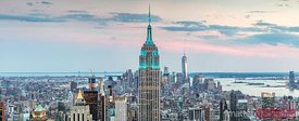 Manhattan skyline panoramic, New York city, USA